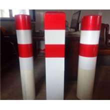 玻璃钢道口桩 反光方形复合材料公路警示桩 红白圆柱形水泥混凝土道路示警桩